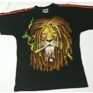 The Roxx Bob Marley LION KING HEAD front and back.